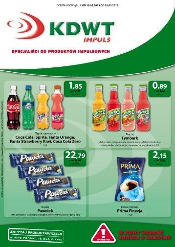 w KDwT nowośĆ zawsze z rabatem Coca Cola, Sprite, Fanta ...