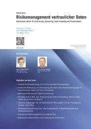 Risikomanagement vertraulicher Daten - Vereon AG
