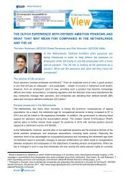 the dutch experience with defined ambition pensions and what that ...