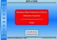 BVP of ODE