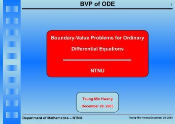 BVP of ODE