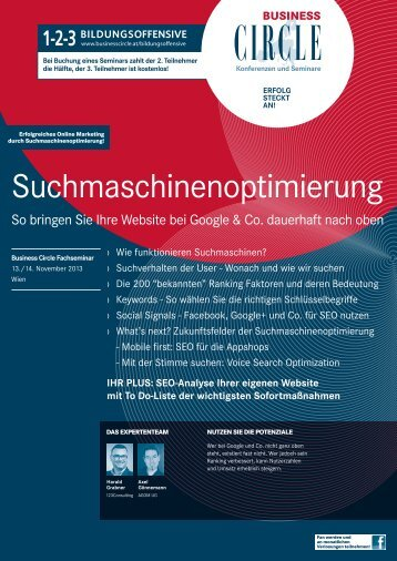 PDF zum SEO Workshop - 123Consulting