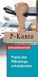 Praxis des Pfändungs - Verbraucherzentrale Niedersachsen