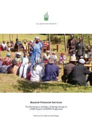 Beyond Financial Services - Aga Khan Development Network