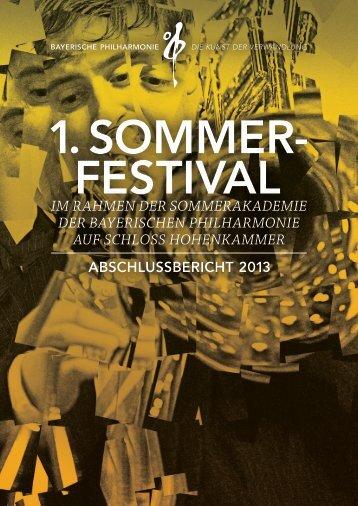 sommerfestival - Bayerische Philharmonie eV