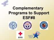 Complementary Programs to Support ESF#8 - The 2012 Integrated ...