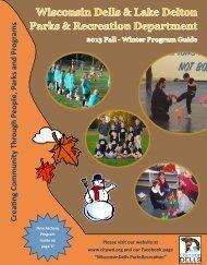 2013/2014 Fall/Winter Program Guide - City of Wisconsin Dells