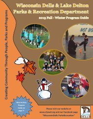 2013/2014 Fall/Winter Program Guide - City of Wisconsin Dells