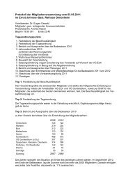 Protokoll der Mitgliederversammlung vom 3. Mai 2011
