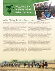 2011 Newsletter (pdf) - the Westwind 4-H Riding for the ...