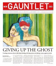 Creating awareness about individuals dealing with ... - The Gauntlet