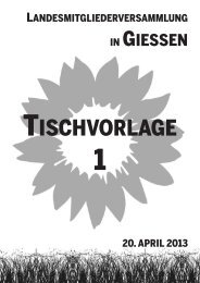 Tischvorlage 1 - Bündnis 90/Die Grünen Hessen