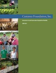 2009-2011 Project Report - Castanea Foundation