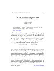 Erratum to: Homology stability for outerautomorphism groups of free ...