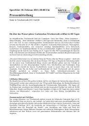 Vorlage Pressemitteilung - Zur Gartenschau