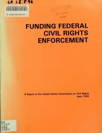 Funding federal civil rights enforcement - University of Maryland ...
