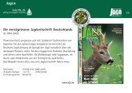 Die meistgelesene Jagdzeitschrift Deutschlands