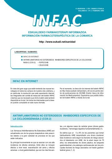 Nº 2 INFAC en Internet Antiinflamatorios no ... - Euskadi.net