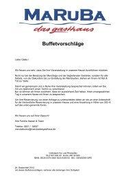 Buffet - Maruba - Das Gasthaus