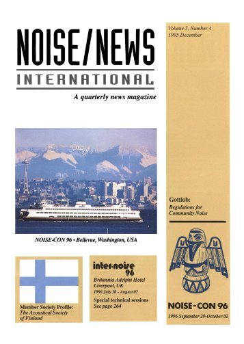 Volume 3, Number 4, December, 1995 - Noise News International