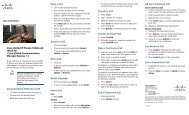 Cisco Unified IP Phones 7942G and 7962G Quick Reference Card ...