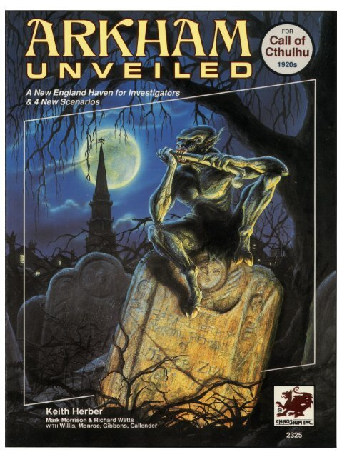 Call of Cthulhu - 1920s - Arkham Unveiled pdf - lazypeon net
