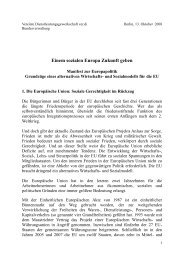 Manifest zur Europapolitik - ver.di NEWS