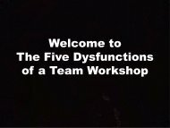 5 Dysfunctions of a Team - Trapsmedia.org