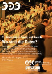 Auslagerung von Datenbearbeitungen - Symposium on Privacy and ...
