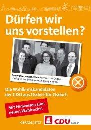 Dürfen wir uns vorstellen? - CDU-Osdorf