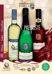 Wein- & Sekt - bei der BERGSTRÄSSER WINZER eG
