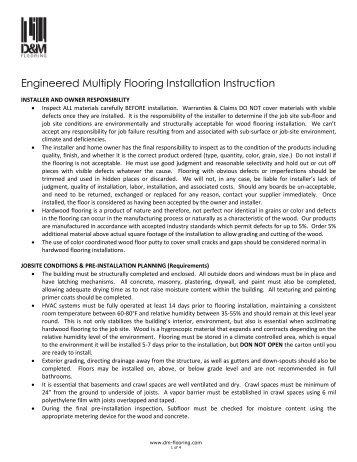 Engineered Hardwood Flooring - D&M Flooring