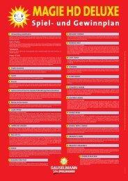 Spiel- und Gewinnplan Magie HD Deluxe - Adp Gauselmann GmbH