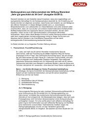Stellungnahme zum Zahncremetest der Stiftung Warentest ... - Ajona