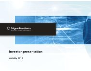US Investor Roadshow Presentation – January 2013 - Diligent ...