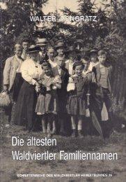 Die ältesten Waldviertler Familiennmen von Walter ... - Familia Austria