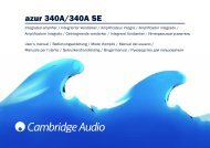 AP200151 Azur 340A.340A SE User's Manual ... - Cambridge Audio