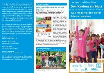 Den Kindern ein Nest - KJF Regensburg