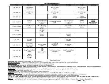 FITNESS CLASS - The Wellness Center of URMC