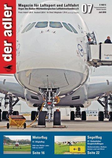 der adler - Baden-Württembergischer Luftfahrtverband eV - BWLV