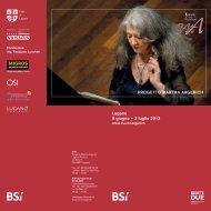 Al via il Progetto Martha Argerich dal prossimo fine settimana