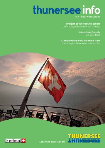 Einzigartige Naherholungsgebiete - Thunersee Tourismus