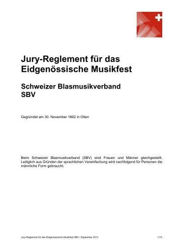 Jury-Reglement für das Eidgenössische Musikfest - Schweizer ...
