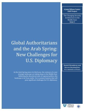 Global Authoritarians and the Arab Spring - Woodrow Wilson ...