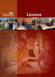 Licence - Université de Rennes 1