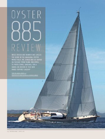 Read the full article here - Oyster Yachts