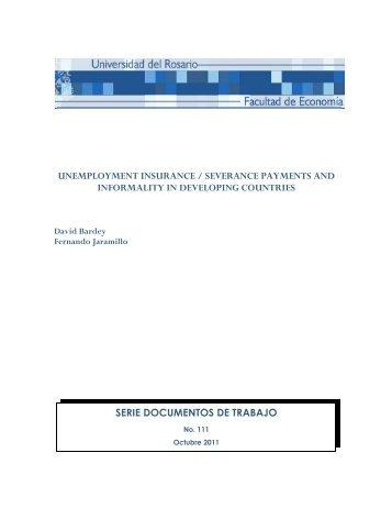 serie documentos de trabajo unemployment insurance / severance ...
