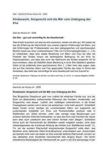 iDAF – NEWSLETTER der Woche 44 – 2009