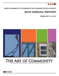 2010 ANNUAL REPORT - Ames Chamber of Commerce