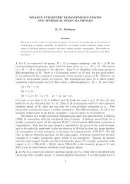 WEAKLY SYMMETRIC HOMOGENEOUS SPACES AND ...
